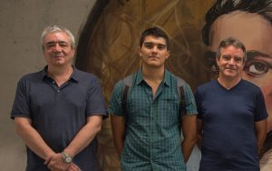 Left to Right, Wladimiro Diaz, Luis F. Arias-Giraldo and Vicente Arnau
