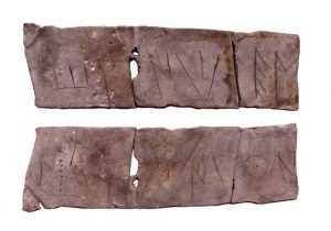 Lead plate with Iberian inscription